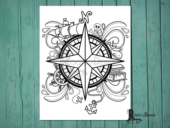 compass coloring pages - photo#20