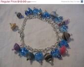 ON SALE Paper bead bracelet- Fringe bracelet