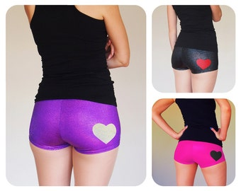 Sparkly Heart Roller Derby Shorts - Pre-Order