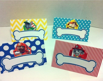 PAW PATROL Food Tents for Birthday Party - Set of 8