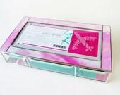 Stained Glass Keepsake Bat Mitzvah Invitation Gift Box Custom Made Wedding Invitation Bride Groom Picture Photograph