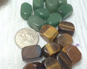 Destash Stone Beads 18 count Aventurine Tiger Eye chunky big