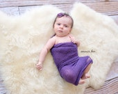 Stretch Knit Baby Wrap Photo Prop Royal Purple