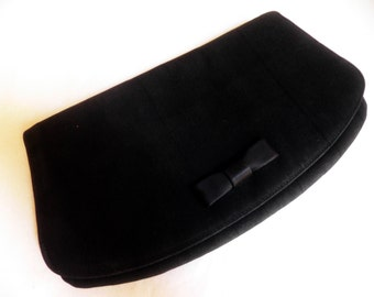 vintage Clutch / Evening Purse, black, 1950's