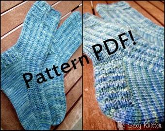 Trek Hiking Boot Socks: PDF Knitting Pattern by Sarah Wilson