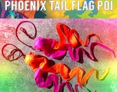 PhOeNiX TaiL FLaG pOi // Made to Order with Custom Size and Colors // Neon DayGlow and UV Reactive