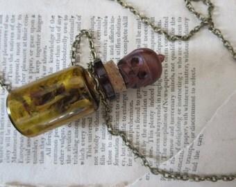LARGE Gris Gris Glass Voodoo Amulet Necklace OOAK