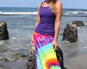 Tie dye Maxi skirt sizes Small through 2X