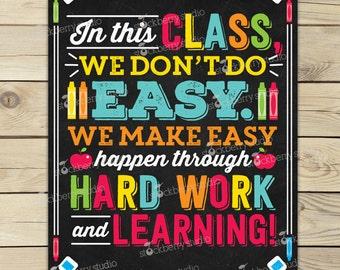 Classroom Decor. Rainbow Classroom Rules Sign. Classroom