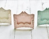 Business Card Holder,Office Decor , Card Holder For Office, Supplies ,Shabby Chic Decor , Cottage Decor ,Gift For Her,Pastel Colors,New Job