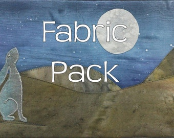 Quilt Pattern and Fabric Pack -Moon Gazing Hare