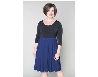 A-line Skirt Matte Jersey 4 Lengths Sizes 2-28