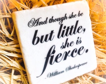 She is Fierce Stone Sign , Plaque , Paperweight , Coaster