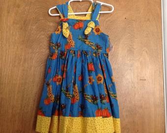 Girls Boutique Dress SAMPLE SALE Thanksgiving Fall Harvest size 4