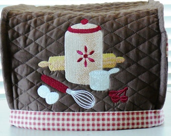 2 Slice Toaster Cover Dust Cover Embroidered Design Many Colors to Choose