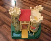 Vintage Fisher Price Castle with some Accessories