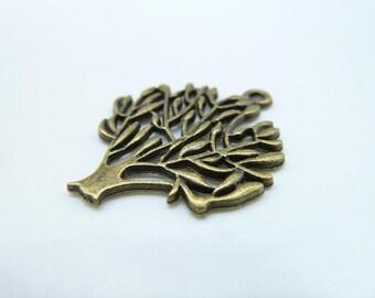 15pcs 24x30mm Antique Bronze Filigree Lush Tree Charm Pendant c233