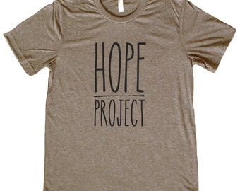 Hope Project Black Letters Logo T Shirt - Feed a child in Nicaragua by purchasing this stylish tee - 3 Colors to choose from