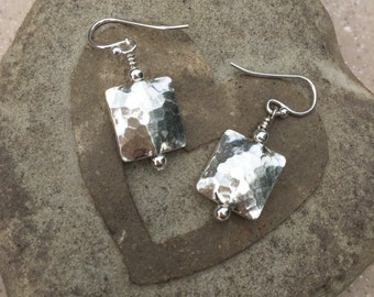 Hammered Thai Silver Mixed with Bali and Gold Fill Earrings