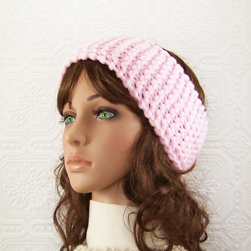 Knitting Pattern Ski Headband : Knit headband headwrap ear warmer ski band by ...