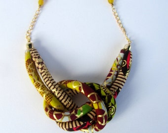 golden necklace/ Knot necklace