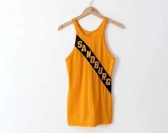 1970s basketball jersey, vintage small tank top