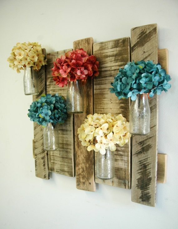 Decoration murale avec palette for Deco murale shabby chic