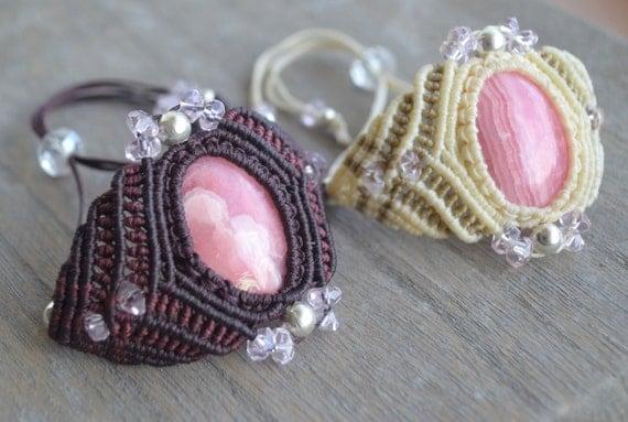 Wrap a Stone in a Bracelet / Pdf Macrame Tutorial ...