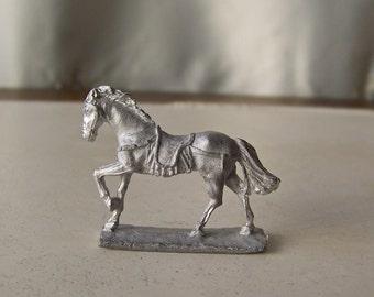 Vintage RAL Partha White Metal  Horse Figurine Stallion Miniature Horse Vintage Late 1970s