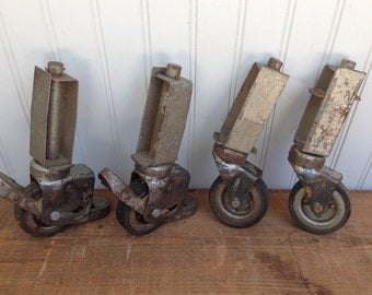 Vintage Industrial Darnell Casters - Made in the USA by Darnell Caster Co.