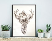 Oh Deer! The Mountains are Calling. | Print