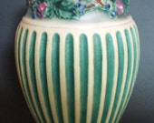 "Extremely Clean and Bright Vintage 1923 Roseville Pottery Corinthian 10"" Vase"