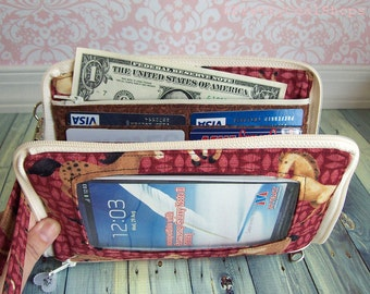 phone case wristlet - Keep in Touch MEGA Wallet  (7e)