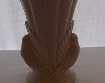 Vintage Vase, Shawnee Double Doves, Beige Pottery