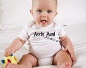 Funny Harry Potter Baby Onesie - Accio Aunt