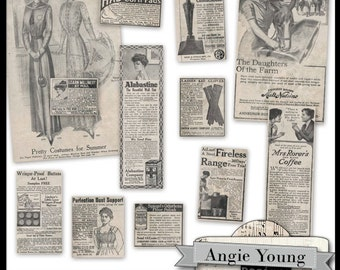 Vintage Ads #2 - Digital Art Supplies By Angie Young