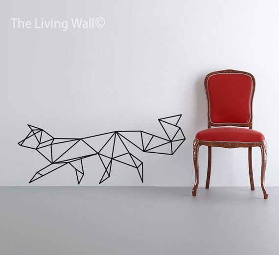 Geometric Fox Wall Decal Geometric Animals Decals Home