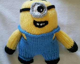 Instant download Knitting pattern Minion 6 to 8 inch