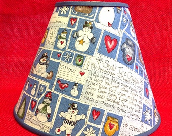 Snowman Recipe Snow Ice Cream Winter Christmas Lamp Shade