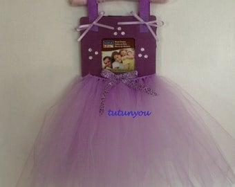 Tutu Ballet Picture Frame-Purple-Tutu Frame-Square-Cheetah-