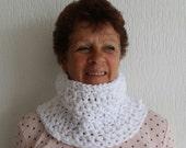 Bulky crocheted acrylic handknitted / cowl / scarf / shawl