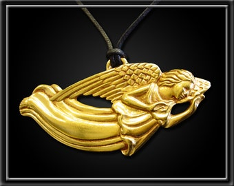 Large 14k Gold Plated Angel Ornament