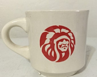 Amangamek wipit Boy Scouts Order of the Arrow vintage Mug w Native Headress Navajo
