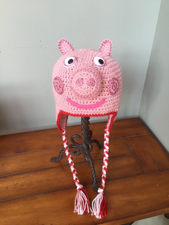 Peppa Pig Inspired Hat You Choose Size by AddysHats on Etsy