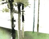 Original watercolour tree painting - Spruce study 2