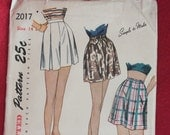 Vintage 1947 Simplicity Printed Pattern, #2017, Size 14, Ladies Shorts, Simplicity Primer, Simple to Make