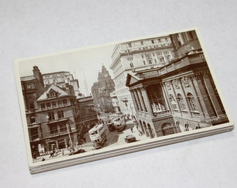 25 Vintage England Black and White Postcards Blank - Wedding Guestbook