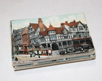 100 Vintage England Color Postcards Blank - Wedding Guestbook