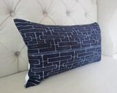 2, Vintage Indigo batik Hmong cushion cover,Decorative Pillows