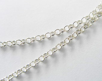 40 inches of 925 Sterling Silver Rolo Chain 1.6 mm. Delicate chain  :th0779